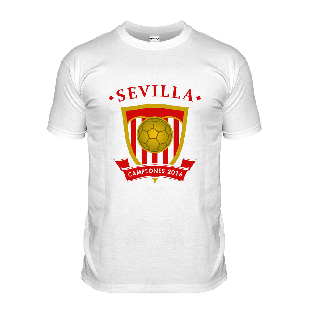 Design t shirt soccer - New Man Design T Shirt Print Sevilla Footballer T