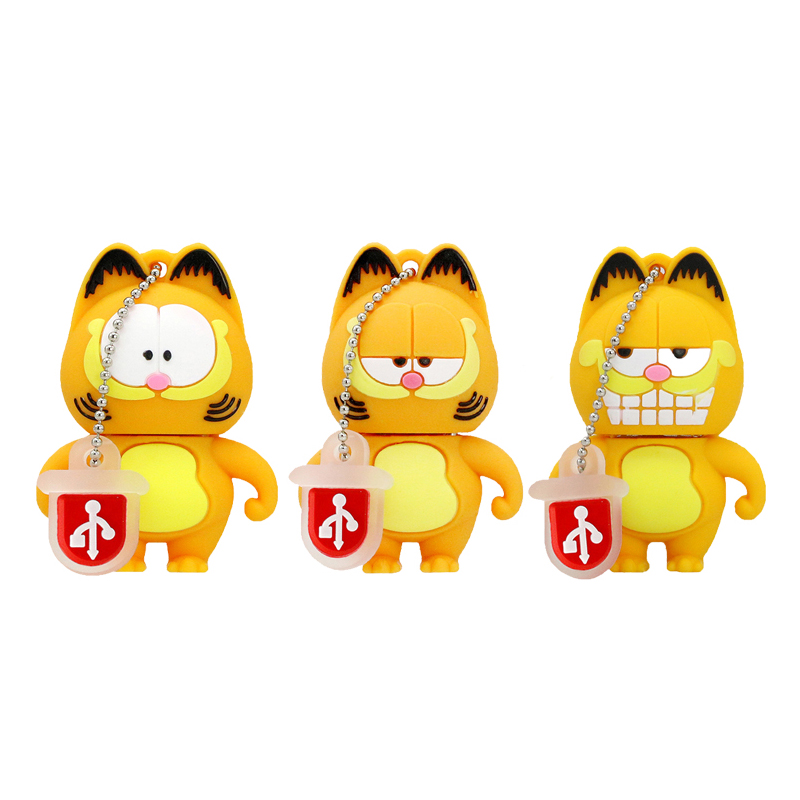 USB 2.0 Cartoon Garfield Family Lecteur flash USB 4 Go 8 Go 16 Go 32 Go 64 Go Mémoire Stick Drive Carte Flash PenDrives
