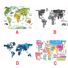 World Map Wall Stickers Office Decoration Home Decor Poster Letter Quote Removable Vinyl Art Decals Mural Living Room