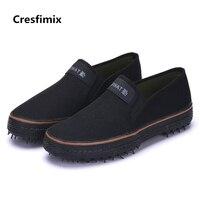 Cresfimix Мужская мода размера плюс прочная уличная рабочая обувь мужская классная Удобная весенне-летняя парусиновая обувь мужская обувь a2688
