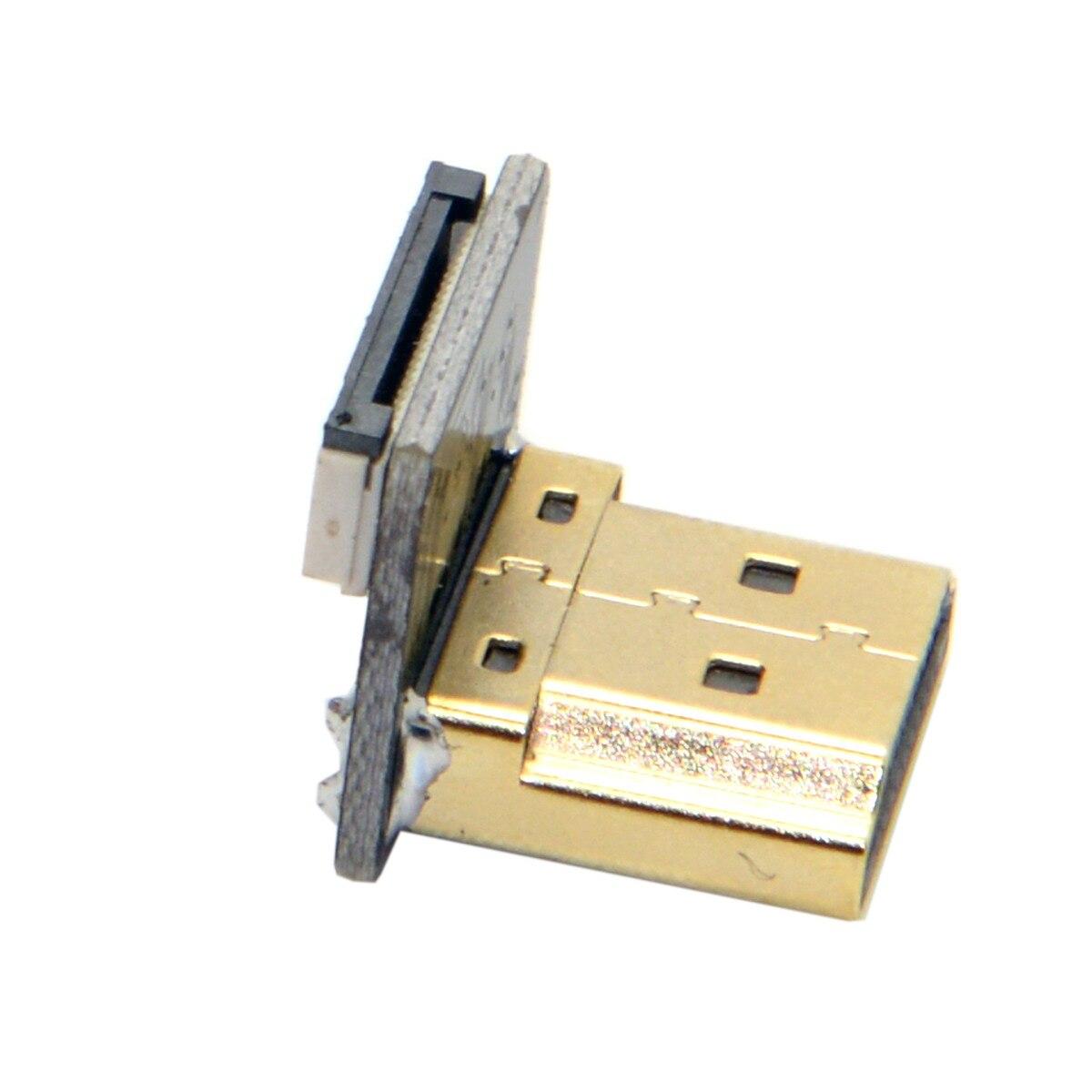 10 pcs/lot câble CYFPV HDMI Type A mâle 90 degrés vers le bas connecteur coudé pour FPV HDTV Multicopter photographie aérienne