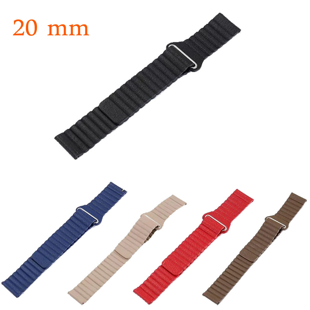 Magnetic Closure Genuine Leather Loop Band for Samsung Gear S2 Classic SM-R732 Strap 20mm Bracelet For Samsung Gear Sport Band все цены