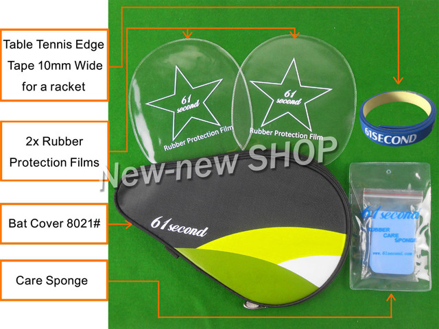 61second Bat Cover 8021# Table Tennis Accessories Set for Table Tennis Ping Pong Racket