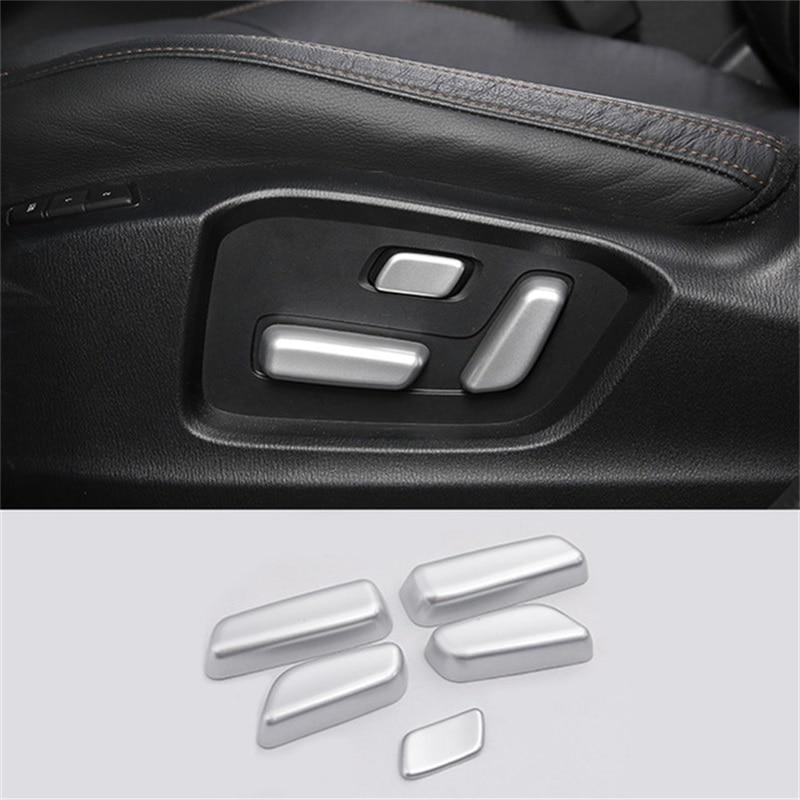 Kadore for 2017-2019 Mazda CX-5 Interior Matte Seat Adjustment Switch Frame Decoration Molding Trim 5-pc