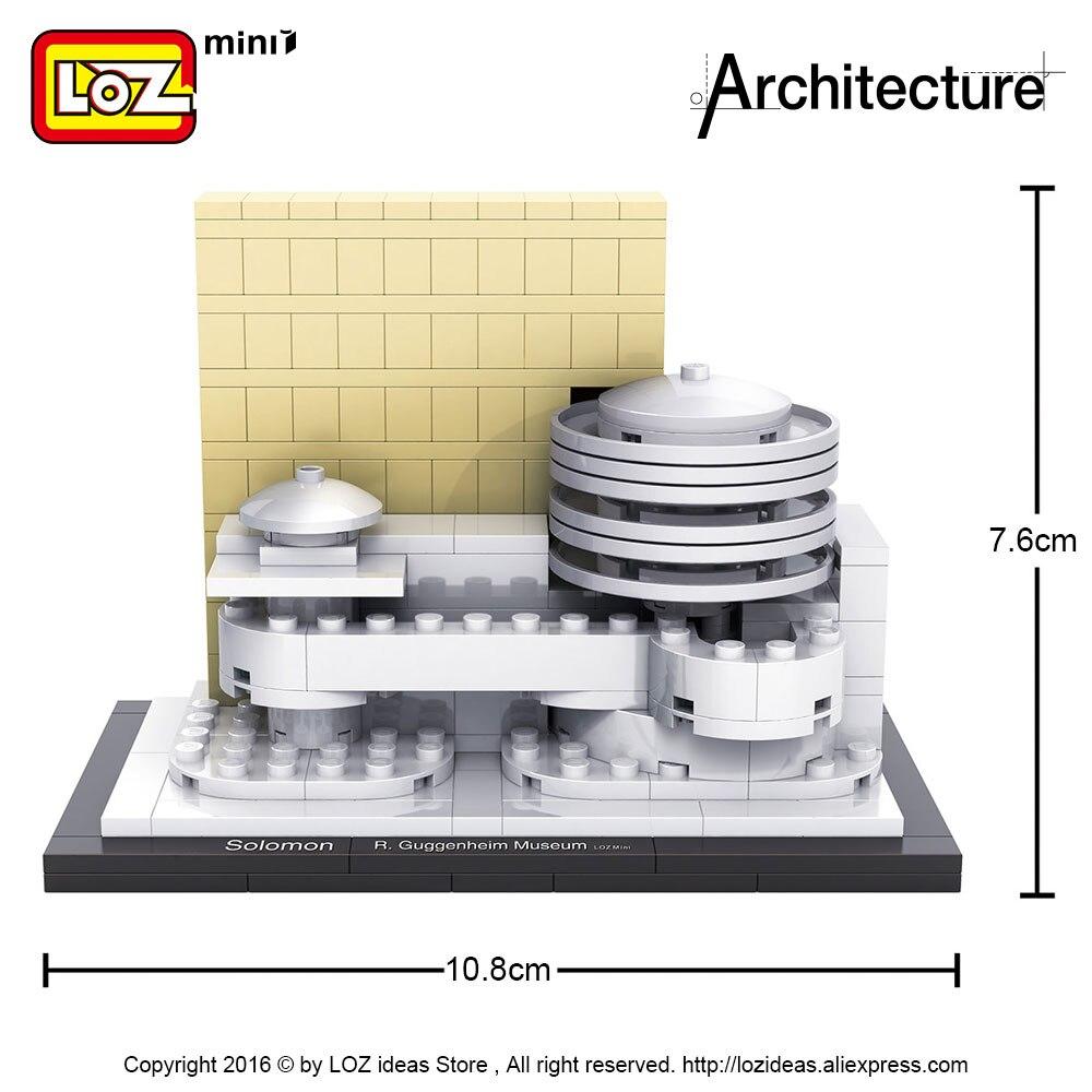 LOZ идеялары Mini Block Guggenheim мұражайы - Дизайнерлер мен құрылыс ойыншықтары - фото 3