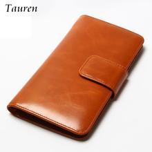 Здесь можно купить  Women Multi-Card Oil Wax Leather Wallet Long Genuine Leaher Wallet Holder Good Quality Zipper Pocket Multi-Color Fashion Clutch  Wallets & Holders