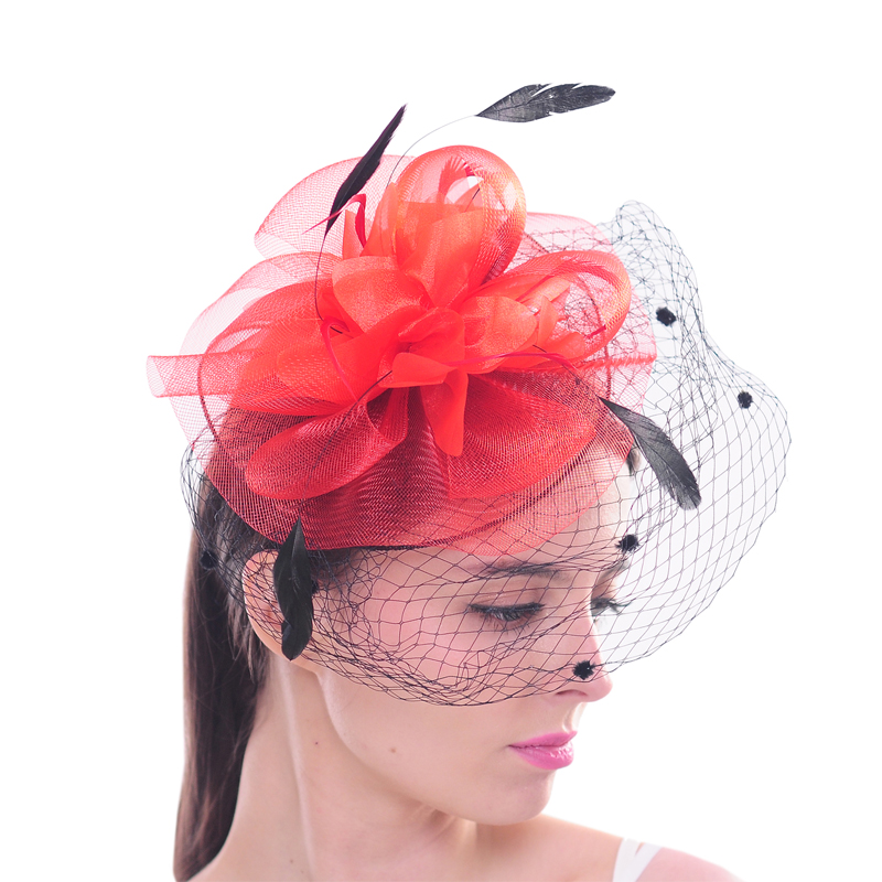 1bb3adbc219fd Aliexpress.com   Buy Handmade Women Mesh Veil Feather Fascinator Wedding  Bridal Clip Hat Elegant Ladies Hair Accessory for Cocktail Party from  Reliable ...