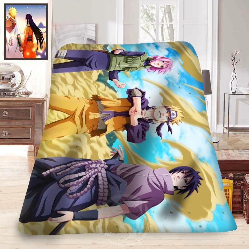 ФОТО Custom anime Naruto #4 Blanket Soft Fleece Decoration Bedroom T#829&tx150