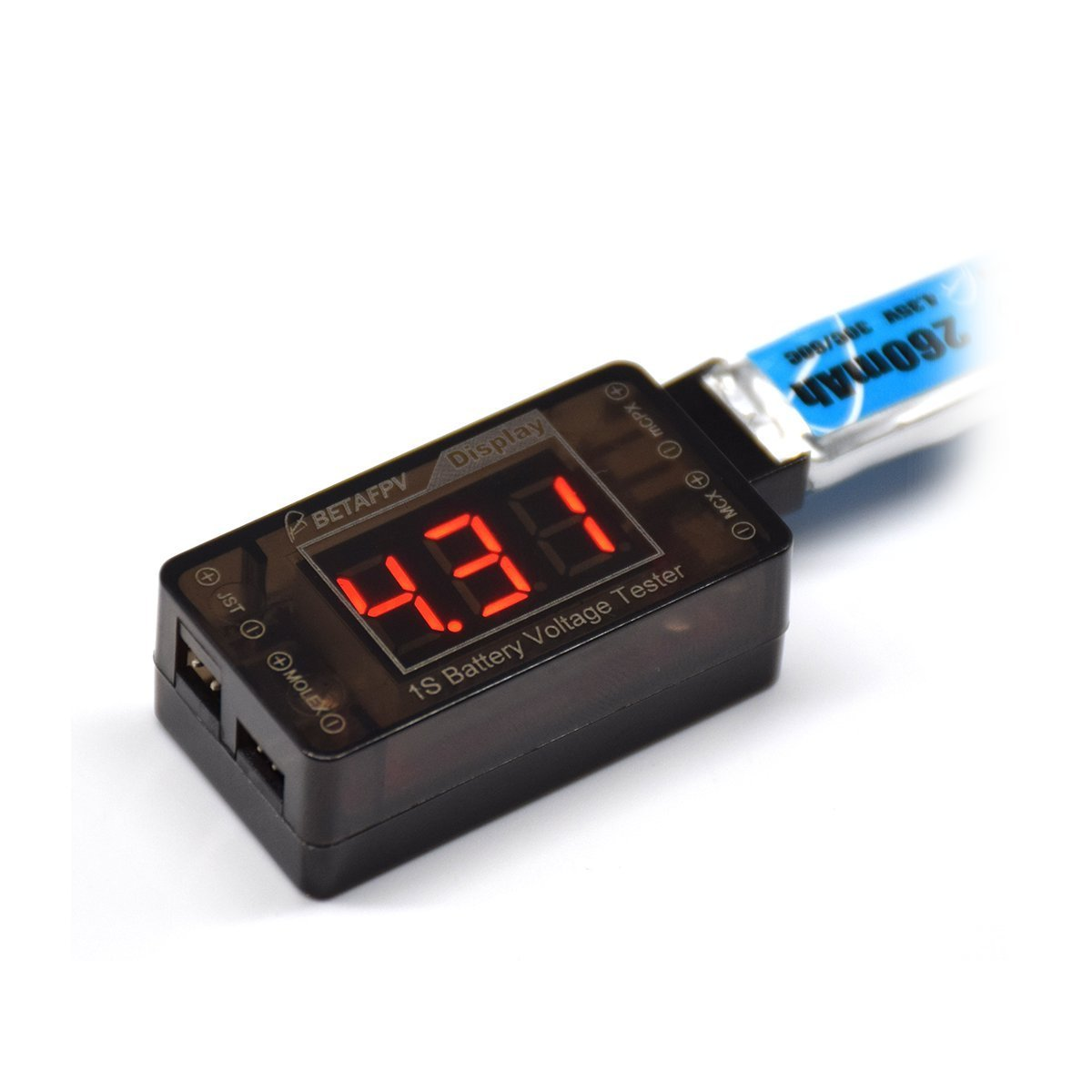 BETAFPV Upgrade 1S LiPo Battery Tester Voltage Checker for Tiny Whoop Blade Inductrix Battery