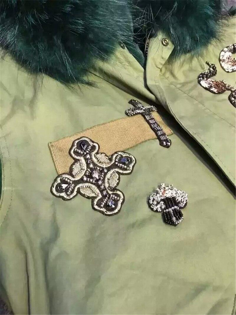 Женский/мужской армейский зеленый меховой жилет mr без рукавов Меховая куртка меховой жилет с бисером