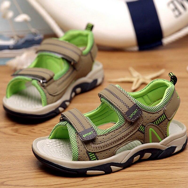 New Sport Summer Children Shoes Boys Kids Sandals Breathable Rubber Flats Shoes Childrens Beach Shoes Non-slip Soft Sandals