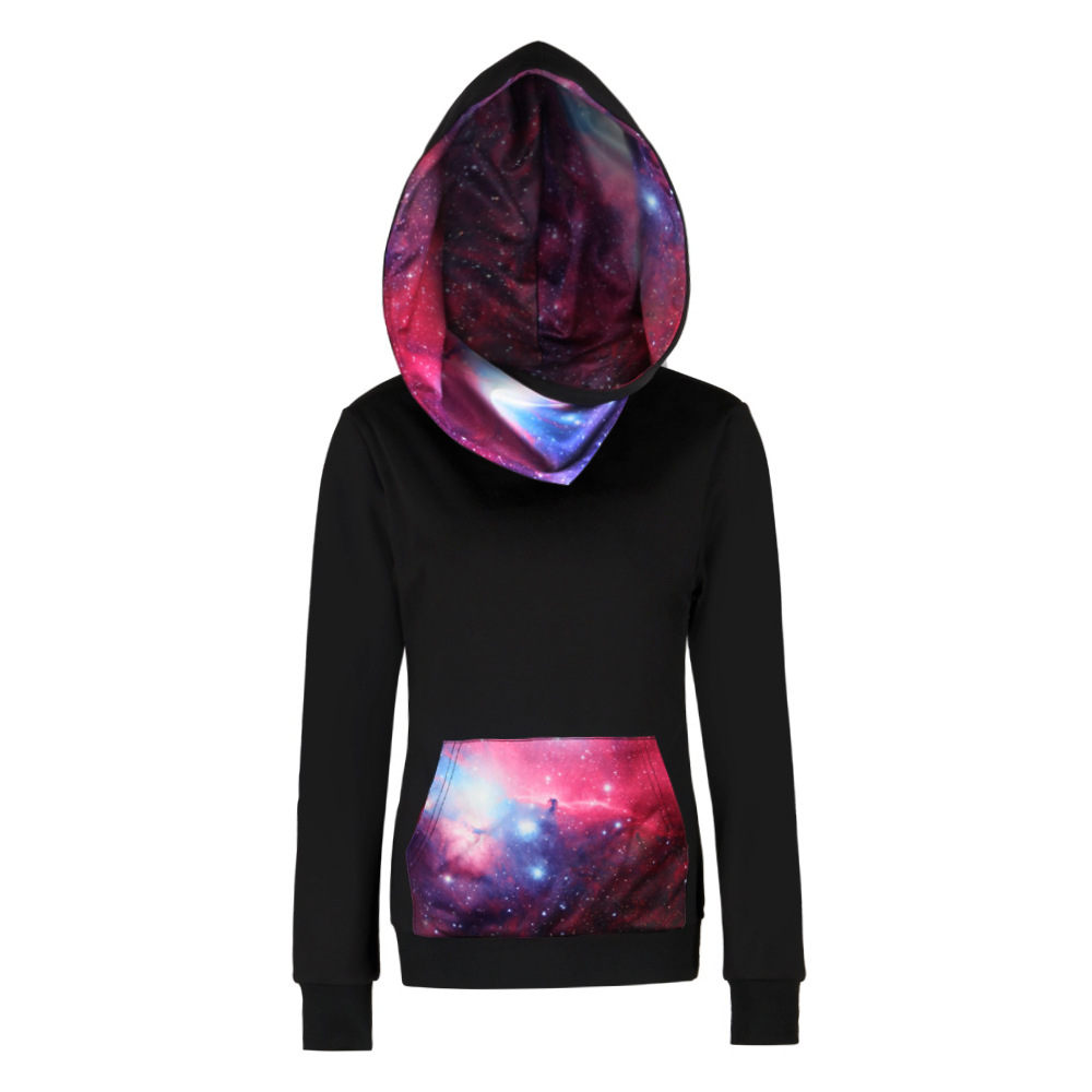Plus Size Pullovers Streetwear Hoodies Men Women 3D Galaxy Space Print Hooded Sweatshirt Long Sleeve Outwear Clothing S-XXXL