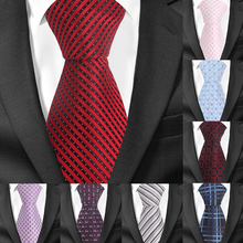 Striped Tie For Men Women Classic Slim Men Neck Ties Fashion Plaid Necktie Groom Neck Tie For Party Wedding Corbatas