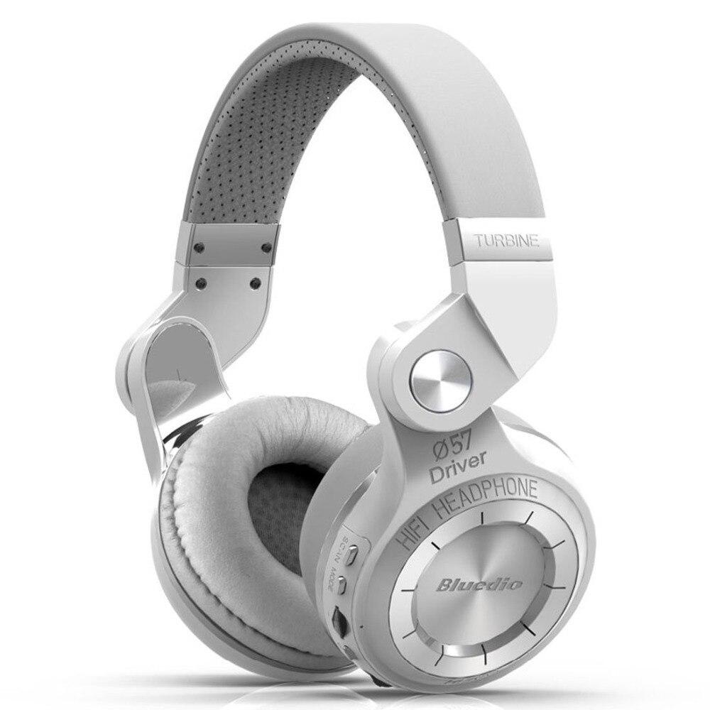 ФОТО Bluedio T2+ Foldable Bluetooth Headphones 4.1 Headset Stereo support FM radio& MicroSD Card Functions Music&phone Calls (White)
