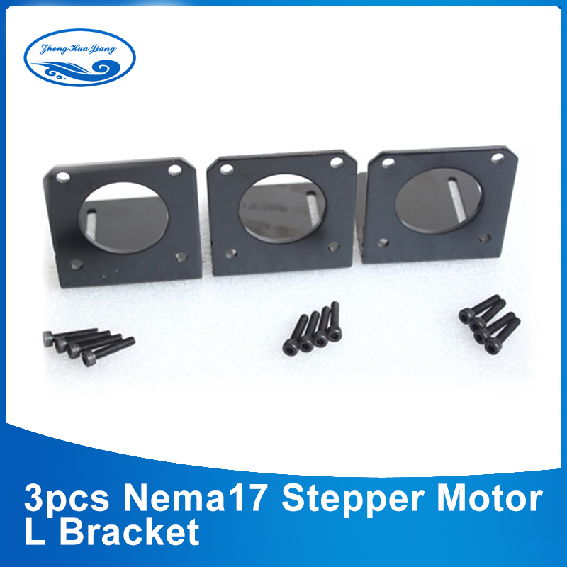 3PCS NEMA 17 Mounting L Bracket Mount Step Stepping Stepper Motor free 3sets mounting screws aluminium alloy mounting bracket for nema 17 stepper motor geared stepper motor