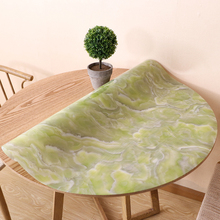 Round table mat High-end European imitation marble round tablecloth Hotel home party decoration PVC waterproof plastic pad