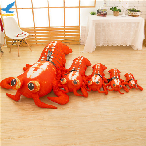 Fancytrader Jumbo Pop Anime Mantis Shrimp Plush Toy Giant Stuffed Soft Simulated Sea Animals Lobster Doll for Adult and Children (8)