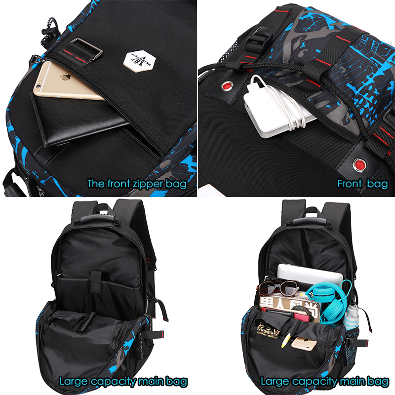15.6 polegadas laptop mochila 4 Exterior : Abra o Bolso