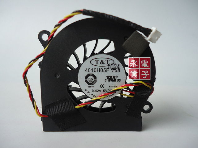 Original CPU Cooling fan for T&T 4010H05F 768 5V 0.42A 4CM 3PIN Video Card VGA Cooler notebook fan