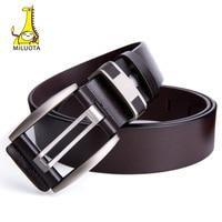 MILUOTA Designer Belts Men High Quality Genuine Leather Belts For Men Vintage Strap Male Cowhide
