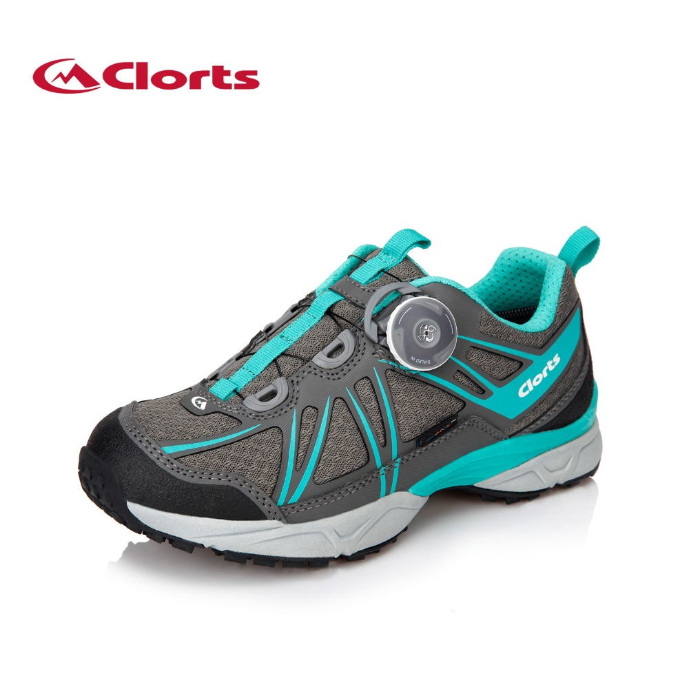 Clorts Women Outdoor Hiking Shoes BOA Lacing System Trekking Sneakers Waterproof Breathable Hiking Boots 3D027B 2016 clorts running shoes for women 3f013 lightweight boa lacing outdoor shoes breathable sport running sneakers