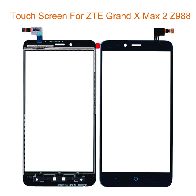 """Black Gold Touch Screen For ZTE Grand X MAX 2 Z988 6.0"""" Front Glass Digitizer Panel Sensor Glass Lens Replacement"""