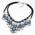 Handmade Hot Fashion Crystal Bib Pendant Rope Chain For Women Jewelry Collar
