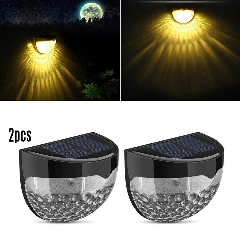 2 Pack/lot 6 LED Solar Garden Light Weatherproof Lamp Outdoor Sensor Auto On At Dusk Auto Off At Dawn Lampe Solaire Exterieur