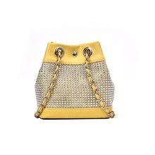 Ladies bucket bag 2019 summer new high quality PU leather ladies designer handbag small shoulder Messenger