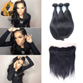 Ear To Ear Lace Frontal Closure With Bundles Brazilian Virgin Hair With Frontal Closure Bundles Brazilian Straight