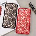 Novo caso de telefone fosco para apple iphone 5 5s se 6 6 s 6 Mais 6 s plus 7 7 Mais Caso Do Damasco Do Vintage Teste Padrão de Flor De Luxo de Volta cobrir
