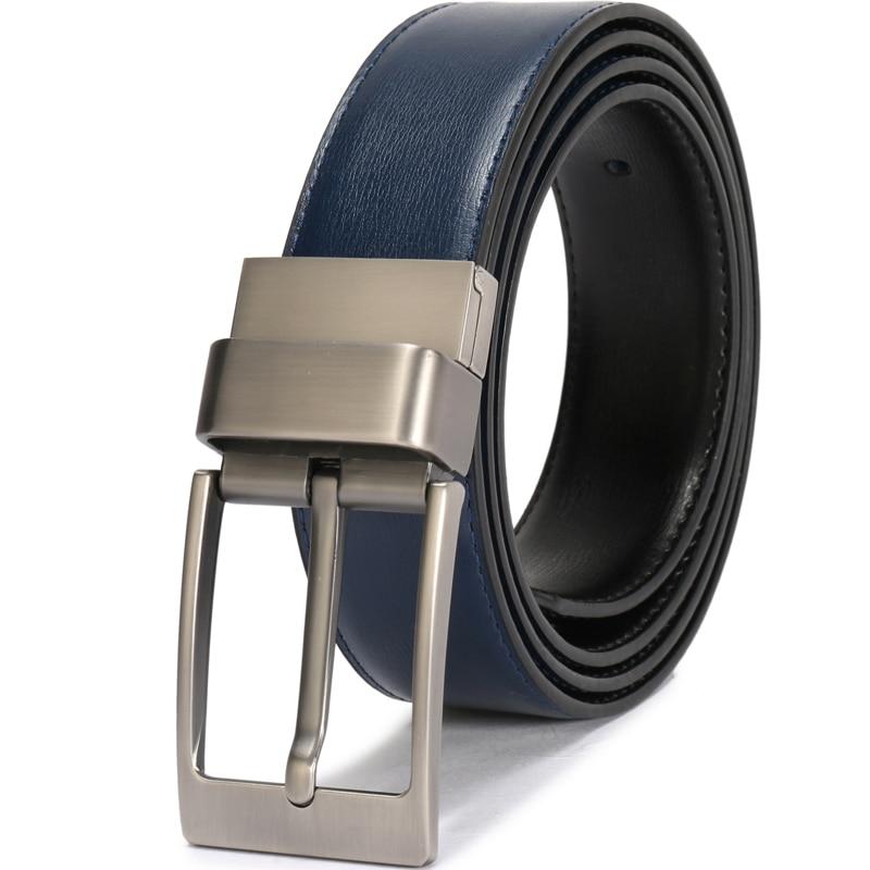 Men/'s Genuine Leather Dress Belt 2 in 1 Reversible Belt for Men 3.4cm wide