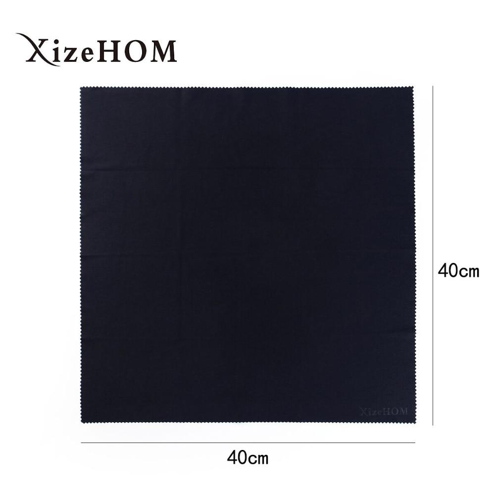 XizeHOM 40*40cm  Large Microfiber Eyeglasses Cloth Sunglasses Eyewear Specs Cleaning Cloth Glasses Black Clean Lens Cloth