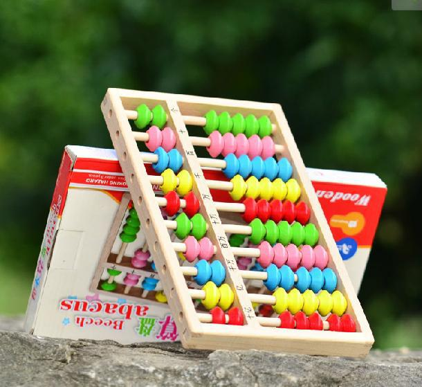 10 Beech abacus laste värviline puidust mänguasi Matemaatika õppevahendid, Lapsed Puit Õppivate laste õppimine Matemaatika mänguasjad