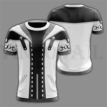 Men and Women Streetwear White T-shirt Kingdom Hearts 3d Print T Shirt for Boys Harajuku Sweatshirt Cosplay Costume