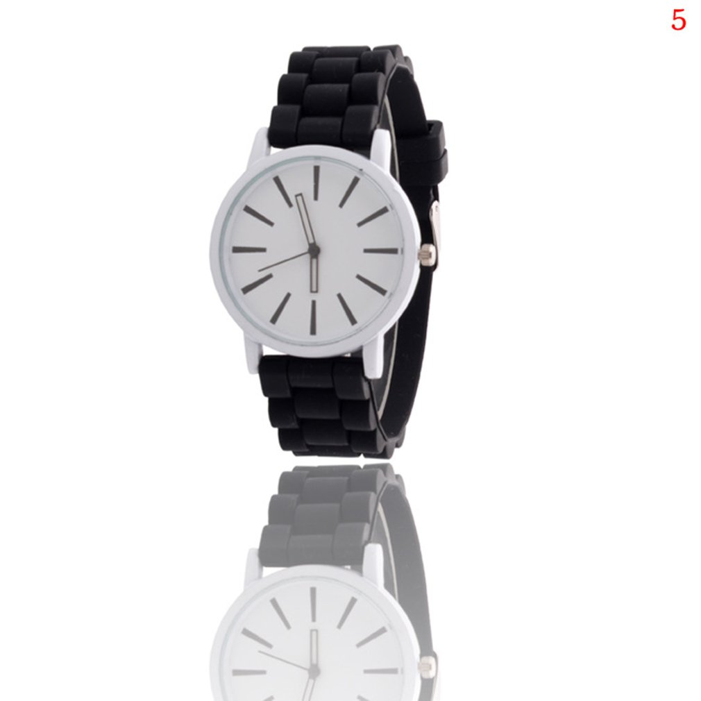 Silicone Strap Quartz Watch For Girl Alloy Case Colorful Cute Design Pattern Business Casual Wrist Watch 2018 New