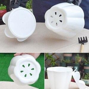 Image 5 - 1 CÁI Nhựa Dày hoa thịt hoa Nhà Làm Vườn Loài Dâu Cây Con Lớn Chậu Xanh Chậu hoa có Khay
