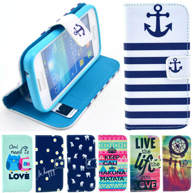 buy popular 38a3a 0be52 US $7.7  For Samsung Galaxy Star Pro S7260 S7262 GT S7262 Back Cover Stand  Phone Capa Celular Luxury Leather Flip Wallet Pouch Case on Aliexpress.com  ...