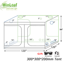 Grow Tent 300 with Light for Indoor Hydroponics Greenhouse Plants Lighting 600D Grow Tent Indoor For plant grow lights hydroponics lighting greenhouse ufo led grow light 90w plant lamp for indoor grow tent with all red 630nm