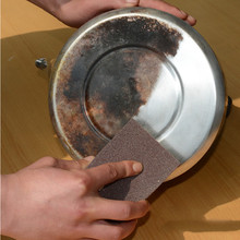 2 pc Diamond sand polishing sponge Dish cleaning  kitchen iron rust magic rub tool