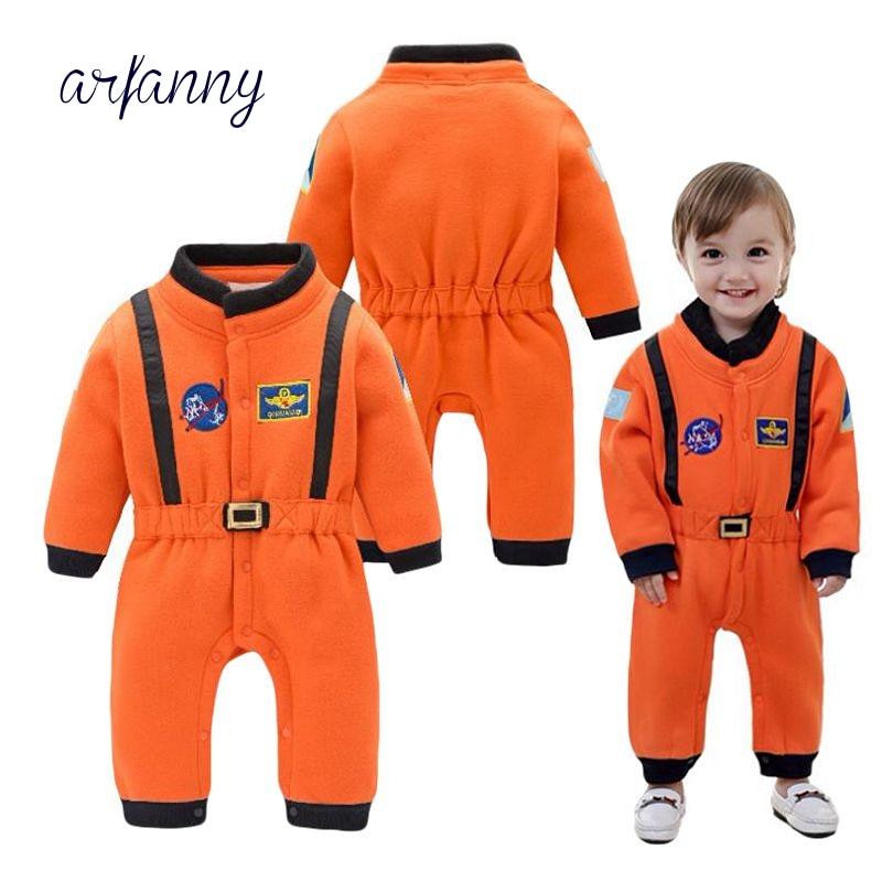 Baby Boy 0-1 Y Infant Boy in Autumn And Winter Orange Long Sleeve Winter Thickening Space Suit Modeling Jumpsuit индийский костюм для танцев девочек