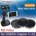 1pc Sunnylife Lens Filter ND Filter ND4 ND8 ND16 Dimmer Light Microscopy X3 Filter for DJI OSMO / OSMO+/ Inspire 1
