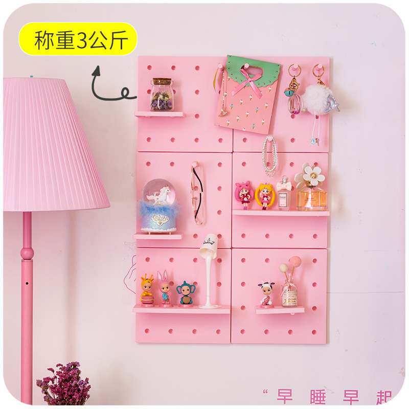 1 Set Cute Bathroom Wall Bedroom Shelf Home Decor Doll House Accessories Punch Free
