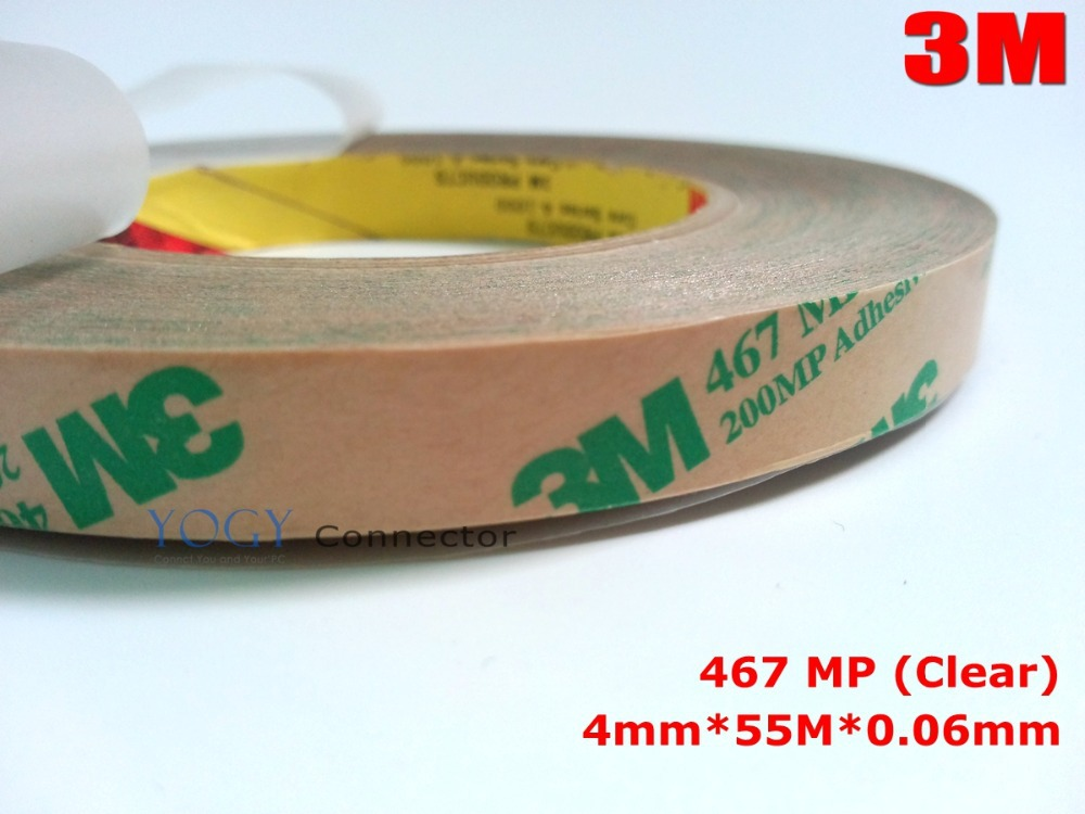 1x 4mm Ultra Thin 3M 467MP 200MP Double Sided Sticky Tape for Graphic Attachment and Membrane Switch Applications fuji 4mm cleaning tape for dds drives