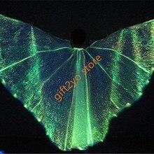 Светодиодный Isis крылья светящиеся фонарики танец живота костюмы с палками одежда для выступлений волоконно-оптический tec