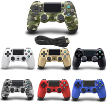 10 PCS PS4 Wired Gamepad For Sony Playstation 4 Controller Joystick Joypad Controle For PS4 Console With USB Cable for playstation 4 ps4 console dvd disk drive laser lens ribbon flex cable pulled w 4pin power cable