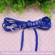 New!  #92112 blue color skinny elastic ribbon, 5mm 100 yards/roll Tiny Elastic Nylon Thread
