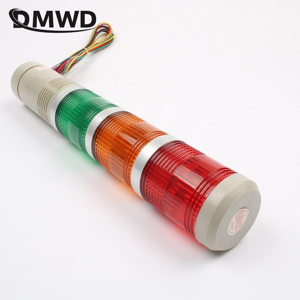 DMWD DC 12V 24V AC 220V 110V Red Green Yellow Flash Industrial Tower Signal warning Light LTA-205 indicator light
