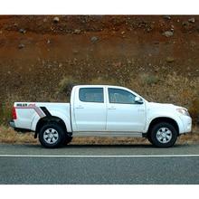 free shipping rear trunk bed box 4x4 stripe gradient graphic vinyl car sticker for toyota hilux revo vigo все цены
