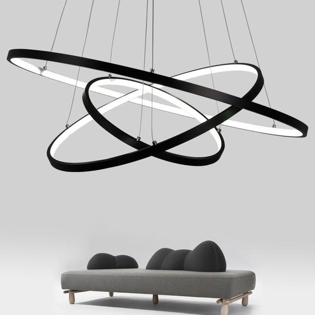 Moderne pendelleuchten für wohnzimmer esszimmer 3/2 Kreis Ringe ...